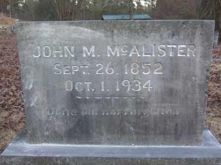 MCALISTER, JOHN M - Pope County, Arkansas   JOHN M MCALISTER - Arkansas Gravestone Photos