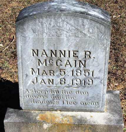 MCCAIN, NANNIE R - Pope County, Arkansas | NANNIE R MCCAIN - Arkansas Gravestone Photos