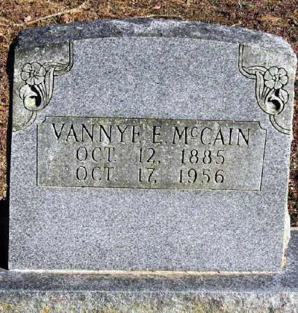 MCCAIN, VANNYE E - Pope County, Arkansas   VANNYE E MCCAIN - Arkansas Gravestone Photos