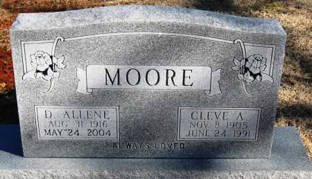 MOORE, D  ALLENE - Pope County, Arkansas   D  ALLENE MOORE - Arkansas Gravestone Photos