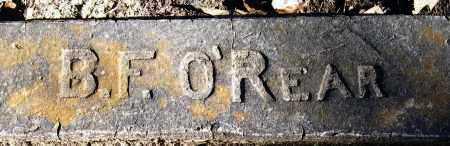 O'REAR, B  F - Pope County, Arkansas | B  F O'REAR - Arkansas Gravestone Photos