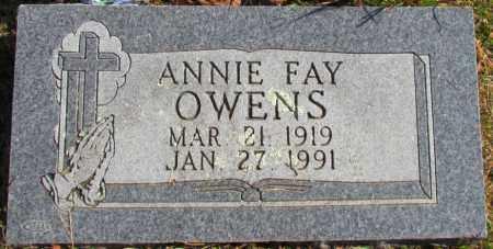 OWENS, ANNIE FAY - Pope County, Arkansas | ANNIE FAY OWENS - Arkansas Gravestone Photos