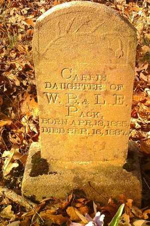 PACK, CARRIE - Pope County, Arkansas | CARRIE PACK - Arkansas Gravestone Photos