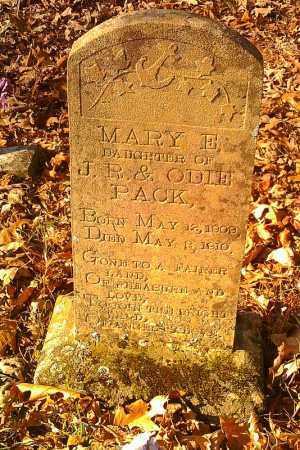 PACK, MARY E - Pope County, Arkansas | MARY E PACK - Arkansas Gravestone Photos