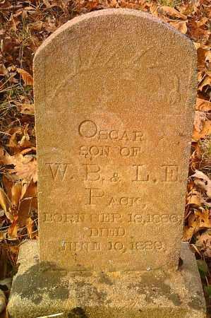 PACK, OSCAR - Pope County, Arkansas   OSCAR PACK - Arkansas Gravestone Photos