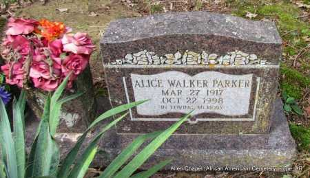 PARKER, ALICE (CLOSE UP) - Pope County, Arkansas | ALICE (CLOSE UP) PARKER - Arkansas Gravestone Photos