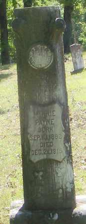 PAYNE, MINNIE - Pope County, Arkansas   MINNIE PAYNE - Arkansas Gravestone Photos