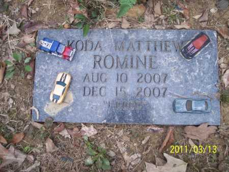 ROMINE, KODA MATTHEW - Pope County, Arkansas | KODA MATTHEW ROMINE - Arkansas Gravestone Photos