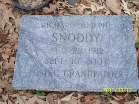 SNODDY, RICHARD JOSEPH - Pope County, Arkansas | RICHARD JOSEPH SNODDY - Arkansas Gravestone Photos