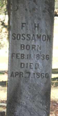 SOSSAMON, FRANKLIN H - Pope County, Arkansas   FRANKLIN H SOSSAMON - Arkansas Gravestone Photos