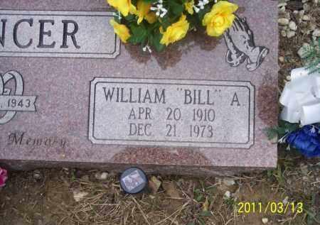 "SPENCER, WILLIAM ""BILL"" A - Pope County, Arkansas   WILLIAM ""BILL"" A SPENCER - Arkansas Gravestone Photos"