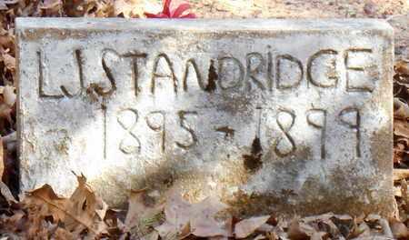 STANDRIDGE, L J - Pope County, Arkansas   L J STANDRIDGE - Arkansas Gravestone Photos