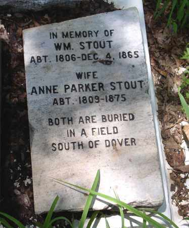 PARKER STOUT, ANNE - Pope County, Arkansas | ANNE PARKER STOUT - Arkansas Gravestone Photos