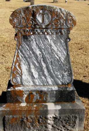 TATE, M  E - Pope County, Arkansas   M  E TATE - Arkansas Gravestone Photos