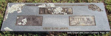 TUCKER, LETTIE M - Pope County, Arkansas | LETTIE M TUCKER - Arkansas Gravestone Photos