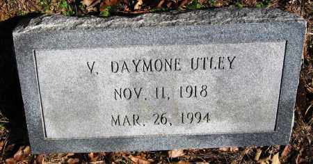 UTLEY, V DAYMONE - Pope County, Arkansas   V DAYMONE UTLEY - Arkansas Gravestone Photos