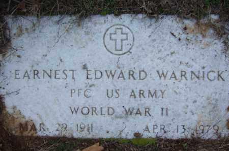WARNICK (VETERAN WWII), EARNEST EDWARD - Pope County, Arkansas | EARNEST EDWARD WARNICK (VETERAN WWII) - Arkansas Gravestone Photos