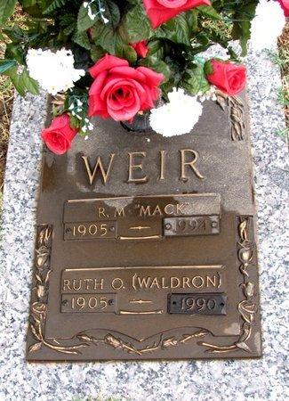 "WEIR, R. M. ""MACK"" - Pope County, Arkansas | R. M. ""MACK"" WEIR - Arkansas Gravestone Photos"