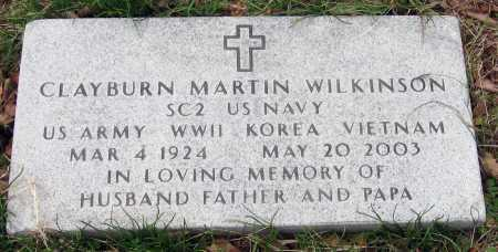 WILKINSON  (VETERAN 3 WARS), CLAYBURN MARTIN - Pope County, Arkansas | CLAYBURN MARTIN WILKINSON  (VETERAN 3 WARS) - Arkansas Gravestone Photos