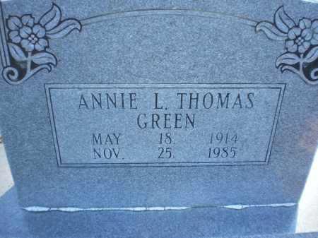 GREEN, ANNIE L - Prairie County, Arkansas   ANNIE L GREEN - Arkansas Gravestone Photos