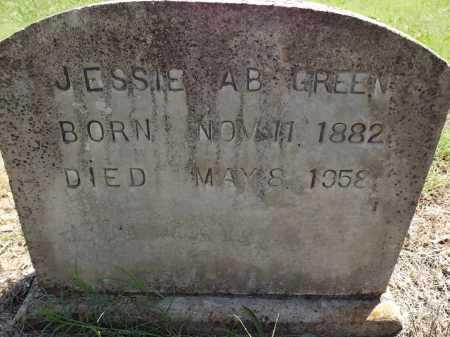 GREEN, JESSIE AB - Prairie County, Arkansas   JESSIE AB GREEN - Arkansas Gravestone Photos