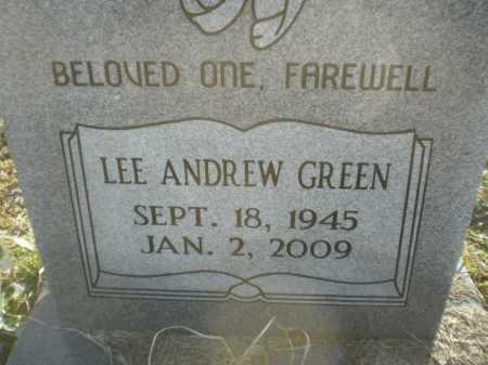 GREEN, LEE ANDREW - Prairie County, Arkansas | LEE ANDREW GREEN - Arkansas Gravestone Photos