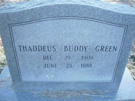 "GREEN, THADDEUS ""BUDDY"" - Prairie County, Arkansas | THADDEUS ""BUDDY"" GREEN - Arkansas Gravestone Photos"