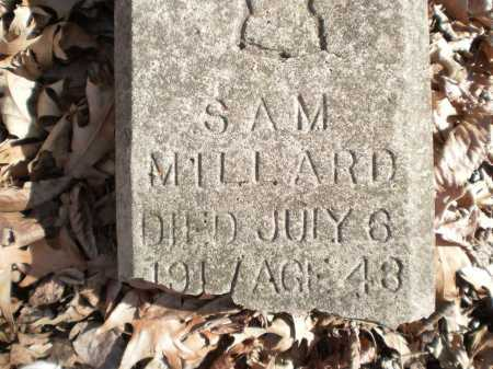MILLARD, SAM (TOP) - Prairie County, Arkansas | SAM (TOP) MILLARD - Arkansas Gravestone Photos