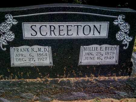 SCREETON, MILLIE E - Prairie County, Arkansas | MILLIE E SCREETON - Arkansas Gravestone Photos