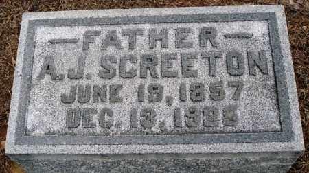 SCREETON, A J - Prairie County, Arkansas | A J SCREETON - Arkansas Gravestone Photos