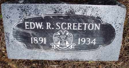 SCREETON, EDWARD R - Prairie County, Arkansas | EDWARD R SCREETON - Arkansas Gravestone Photos