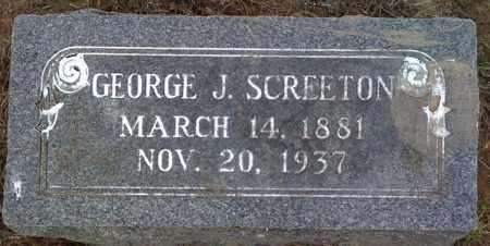 SCREETON, GEORGE J - Prairie County, Arkansas | GEORGE J SCREETON - Arkansas Gravestone Photos