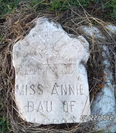 UNKNOWN, ANNIE - Prairie County, Arkansas   ANNIE UNKNOWN - Arkansas Gravestone Photos