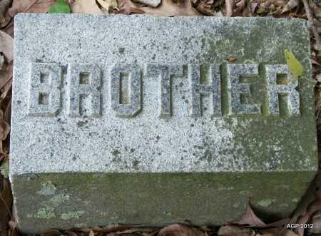 UNKNOWN, BROTHER - Prairie County, Arkansas   BROTHER UNKNOWN - Arkansas Gravestone Photos