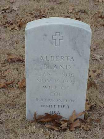 BLAND, ALBERTA - Pulaski County, Arkansas   ALBERTA BLAND - Arkansas Gravestone Photos