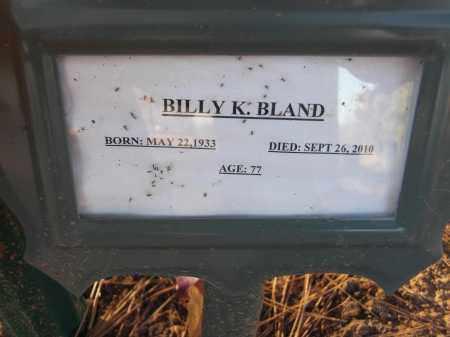 BLAND, BILLY K - Pulaski County, Arkansas | BILLY K BLAND - Arkansas Gravestone Photos
