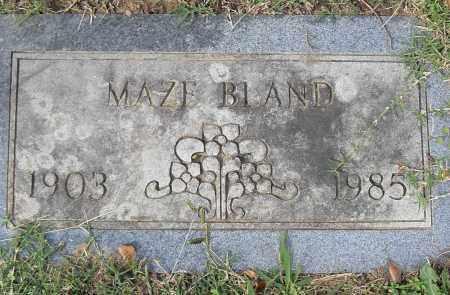 BLAND, MAZE - Pulaski County, Arkansas | MAZE BLAND - Arkansas Gravestone Photos