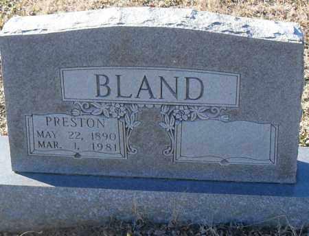 BLAND, PRESTON - Pulaski County, Arkansas | PRESTON BLAND - Arkansas Gravestone Photos
