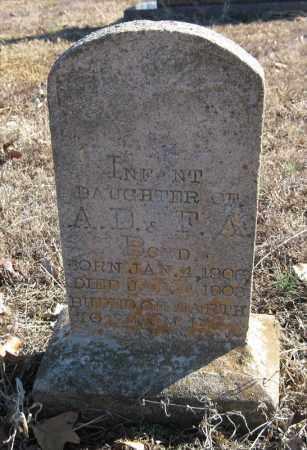 BOYD, INFANT DAUGHTER - Pulaski County, Arkansas | INFANT DAUGHTER BOYD - Arkansas Gravestone Photos