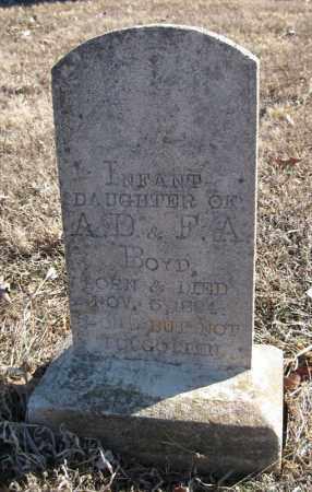 BOYD, INFANT DAUGHTER - Pulaski County, Arkansas   INFANT DAUGHTER BOYD - Arkansas Gravestone Photos