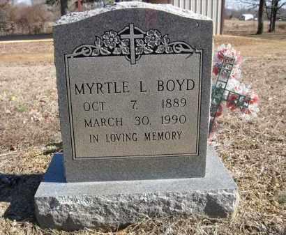 BOYD, MYRTLE L - Pulaski County, Arkansas   MYRTLE L BOYD - Arkansas Gravestone Photos