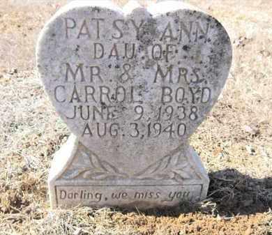 BOYD, PATSY ANN - Pulaski County, Arkansas | PATSY ANN BOYD - Arkansas Gravestone Photos