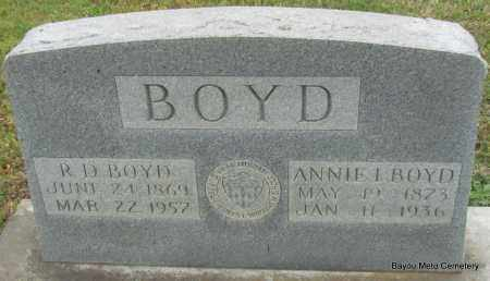 BOYD, ANNIE I - Pulaski County, Arkansas | ANNIE I BOYD - Arkansas Gravestone Photos
