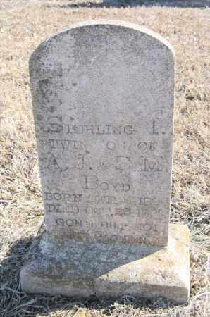 BOYD, STERLING L - Pulaski County, Arkansas | STERLING L BOYD - Arkansas Gravestone Photos