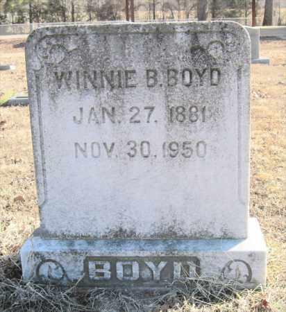 BOYD, WINNIE B - Pulaski County, Arkansas   WINNIE B BOYD - Arkansas Gravestone Photos