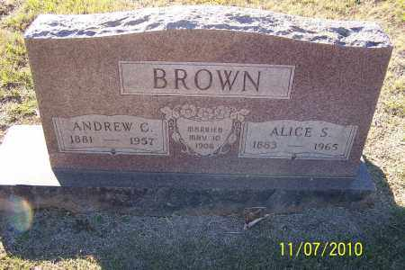 BROWN, ALICE S - Pulaski County, Arkansas | ALICE S BROWN - Arkansas Gravestone Photos