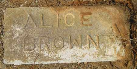 BROWN, ALICE - Pulaski County, Arkansas | ALICE BROWN - Arkansas Gravestone Photos