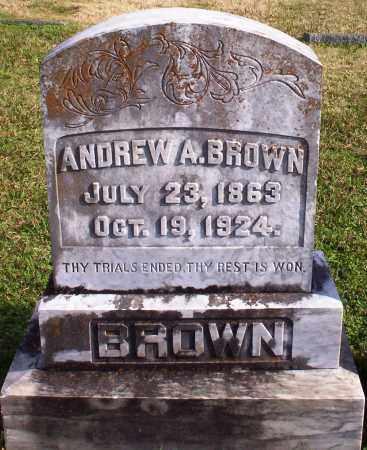 BROWN, ANDREW A - Pulaski County, Arkansas   ANDREW A BROWN - Arkansas Gravestone Photos