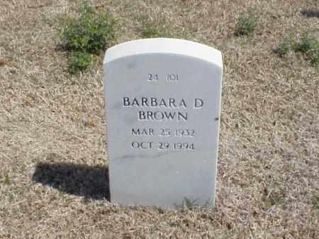BROWN, BARBARA D - Pulaski County, Arkansas | BARBARA D BROWN - Arkansas Gravestone Photos