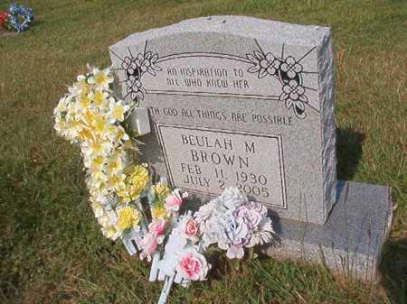 BROWN, BEULAH M - Pulaski County, Arkansas   BEULAH M BROWN - Arkansas Gravestone Photos